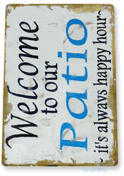 TIN SIGN Welcome to Patio Beach House Cottage Metal Décor Art Kitchen B010 $8.95