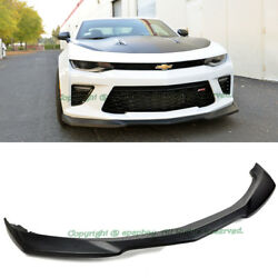 Fit 16-Up Chevy Camaro SS V8 ZL1 Style Unpaint ABS Plastic Front Bumper Lip Kit