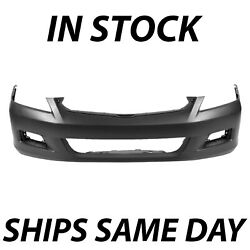 NEW Primered - Front Bumper Cover Replacement for 2006 2007 Honda Accord Sedan $73.99