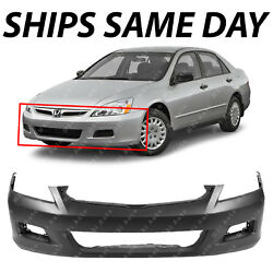 NEW Primered - Front Bumper Cover Replacement for 2006 2007 Honda Accord Sedan $96.49