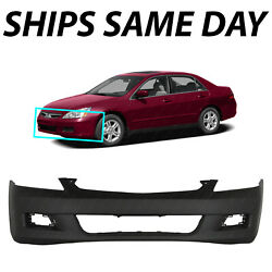 NEW Primered Front Bumper Cover Replacement for 2006 2007 Honda Accord Sedan $93.24
