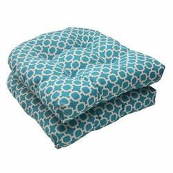 Wicker Seat Cushions Set of 2 Teal Indoor Outdoor Patio Chair Swing Replacement