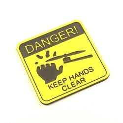FAA Drone Registration Engraved Tag Sticker Danger Keep Hands Clear 34x35mm $9.99
