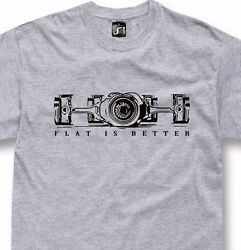 Boxer engine t shirt flat is better for 911 bmw gs fans S 5XL $25.50