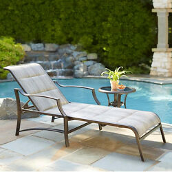 Hampton Bay Padded Patio Deck Chaise Lounge Outdoor Furniture Pool Chair NEW