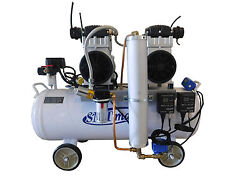 New 3HP Dental Noiseless Oil Free Air Compressor w auto dryer and drain $2185.50