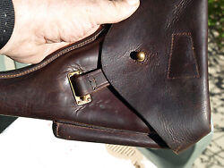 Portuguese WW2 P-08(BYF42) Luger Holster  leather w 2 tools 98%