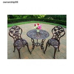 Patio Dining Set Bistro Outdoor Furniture Table Chairs Pool Deck Garden Iron New