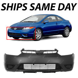 NEW Primered Front Bumper Cover Fascia for 2006 2007 2008 Honda Civic Coupe $75.59