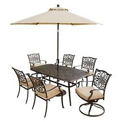 Hanover Outdoor Furniture Traditions 7 Pc. Outdoor Dining Set of Four Dining ...