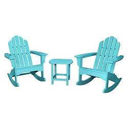 Hanover Outdoor Furniture 3-Piece All-Weather Rocking Adirondack Patio Set - ...