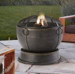 New Fire Pit Outdoor Fireplace Patio Backyard Firepit Wood Burning Deck Heater