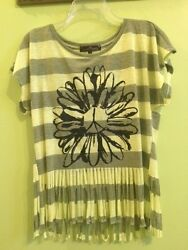 Almost Famous Top T Shirt Fringe Small $12.00