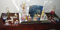26 Pcs. BIG Disney Tinkerbell Lot Figurine Figures Ornament Decor Tink Rare HTF