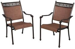 NEW Hampton Bay Non-Rust Niles Park Sling Patio Dining ChairChairs Set (2-Pack)