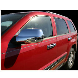For 11-19 Jeep Grand Cherokee Full Chrome Side View Mirror Covers Caps Set 2Pc