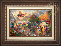 Thomas Kinkade Disney Dumbo 18 x 27 LE EE Canvas Framed