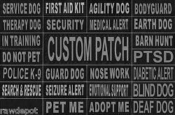 Patch Reflective Label Tag for Dog Harness Vest Service Therapy Emotional $7.49