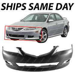 NEW Primered Front Bumper Cover Replacement for 2003 2004 2005 Mazda 6 Standard $55.99