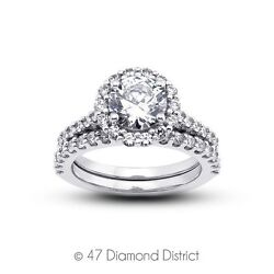 4.81ct. tw. G-I1 Ex Round Certified Diamonds 14K Gold Cathedral Vintage Rings 9g