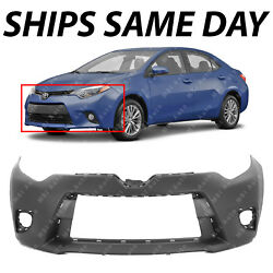 NEW Primered - Front Bumper Cover For 2014 2015 2016 Toyota Corolla Sedan 14-16 $87.84