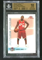 11 2003-04 Fleer Focus Lebron James Decade BGS 10 Missing Serial # Pristine