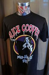 BRAND NEW HORROR ALICE COOPER MAD HOUSE ROCK SNAKE BLACK T SHIRT SCHOOL'S OUT