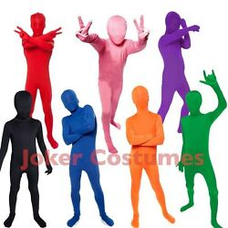 Kids Morphsuit Boys Girls Costume Plain Color Bodysuit Great For Halloween Party $29.95