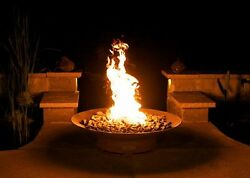 Fire Pit Art Asia Fire Pit 36-Inch Electronic Ignition Natural Gas New
