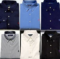 New Polo Ralph Lauren Men's Standard Fit Poplin Button Down Sport Dress Shirt