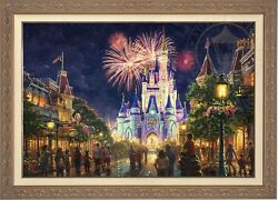 Thomas Kinkade Main Street USA 28 x 42 LE GP Canvas Framed Walt Disney World