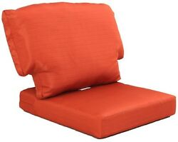 Outdoor Patio Chair Cushion Charlottetown Quarry Orange Red Replacement Pillow
