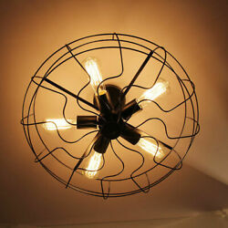 Industrial Fan Style Lighting Iron Edison Ceiling Vintage Rustic GBP 89.50