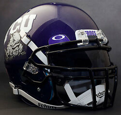 *CUSTOM* TCU HORNED FROGS Schutt XP Gameday REPLICA Football Helmet wROPO-DW