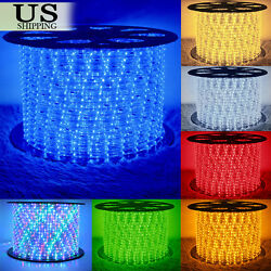 50' 150' LED Rope Light 110V Party Home Christmas Outdoor Xmas Lighting 100 300 $30.99