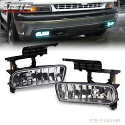For 00-06 Chevy Suburban Tahoe Clear Bumper Fog Lights Driving Lamps $18.32