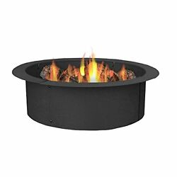 Durable 27-Inch Diameter Steel Fire Pit Rim Build Your Own in-Ground Fire Pit