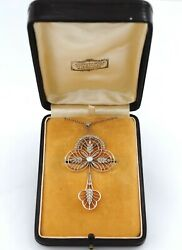 BELLE EPOQUE 18K GOLD AND DIAMONDS BROOCH AND PENDANT WITH CHAIN