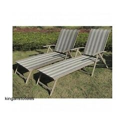 Patio Sling Chairs Set 2 Garden Outdoor Portable Folding Lounge Deck Furniture