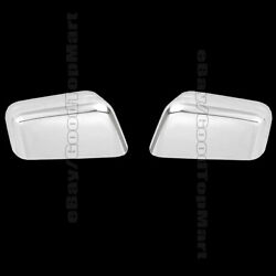 For 2007 2008 2009 2010 Ford EDGE 2 Chrome Top HALF Mirror Covers Pair Chromed