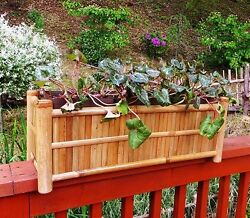 Deck Rail Top Bamboo Planter BWB-48 48