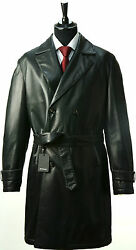 NEW KITON COAT OVERCOAT 100% LEATHER CASHMERE 40 US 50 EU KG57 SPECIAL XMAS SALE