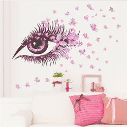 Fairy Wall Stickers Flowers Sexy Girl Eye butterfly Vinyl decal Home Decor USA $12.99