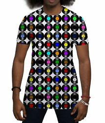 Men's Sublimation Print Vinyl Records Music Holiday Festival T Shirts