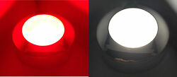 MARINE BOAT LED MULTI COLOR CEILING COOL WHITE amp; RED DIMMABLE LIGHT POLISHED SS $448.01