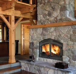NEW NAPOLEON NZ6000 HIGH COUNTRY WOOD BURNING FIREPLACE AS PICTURED