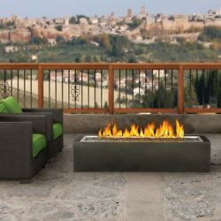 Modern Fire Pit GPFL48MHP Outdoor Linear Patioflame Firepit Natural Gas Propane