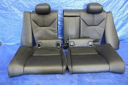 2009 09 BMW M3 COUPE E92 OEM FACTORY BLACK LEATHER REAR SEATS ASSY S65 V8 #1037