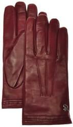 Stefano Ricci Gloves Handmade Leather Cashmere Lined Size 9 Red 13GL0106 $745