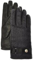 Stefano Ricci Gloves Handmade Leather Cashmere Size 9 Gray Black 13GL0113 $745